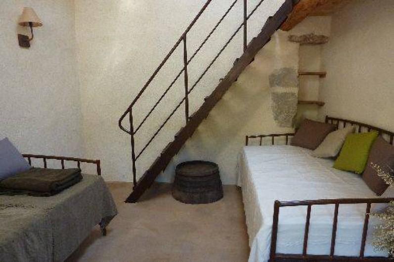Location de vacances - Gîte à Ribiers - La chambre Mezzanine