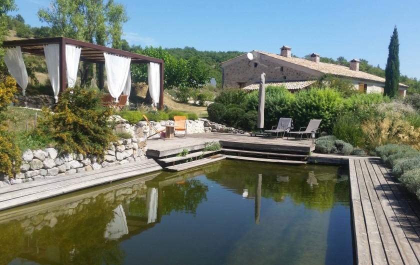 Location de vacances - Gîte à Ribiers - Le  bassin à filtration biologique