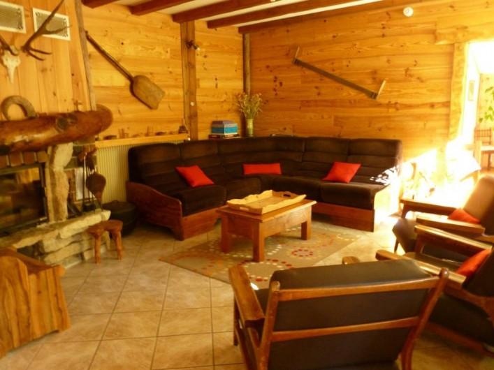 Location de vacances - Gîte à Saint-Agnan-en-Vercors - salon avec cheminée