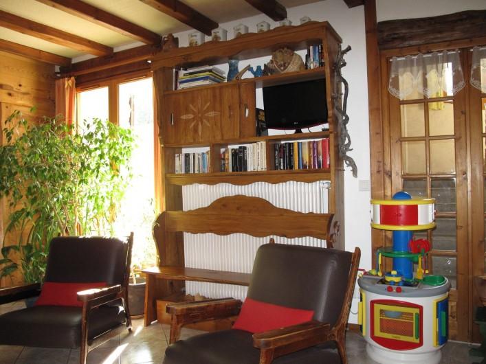 Location de vacances - Gîte à Saint-Agnan-en-Vercors - tv et jeux dans le salon