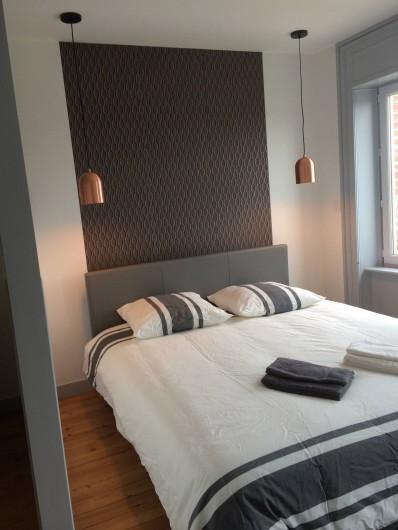 Location de vacances - Appartement à Saint-Pair-sur-Mer - Chambre lit King-size