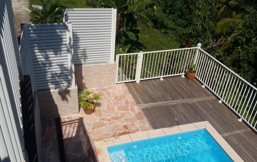 Location de vacances - Villa à Rivière-Pilote - vue piscine