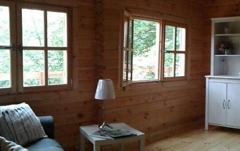 Location de vacances - Chambre d'hôtes à Saint-Barthélémy-Grozon - Le salon de la maison d'hôtes familiale Domaine de Plantât