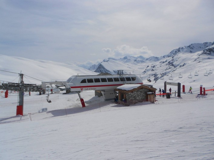 Location de vacances - Studio à Val-d'Isère - télésiège de Cascade