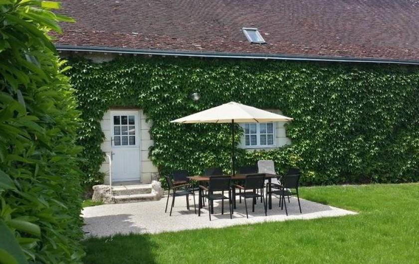 Location de vacances - Gîte à Villandry - Vue sur la terrasse