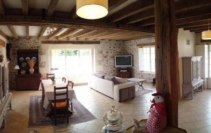 Location de vacances - Gîte à Villandry - La grande pièce à vivre