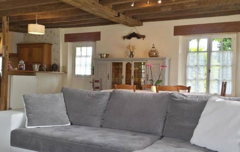 Location de vacances - Gîte à Villandry - Le canapé et sa méridienne