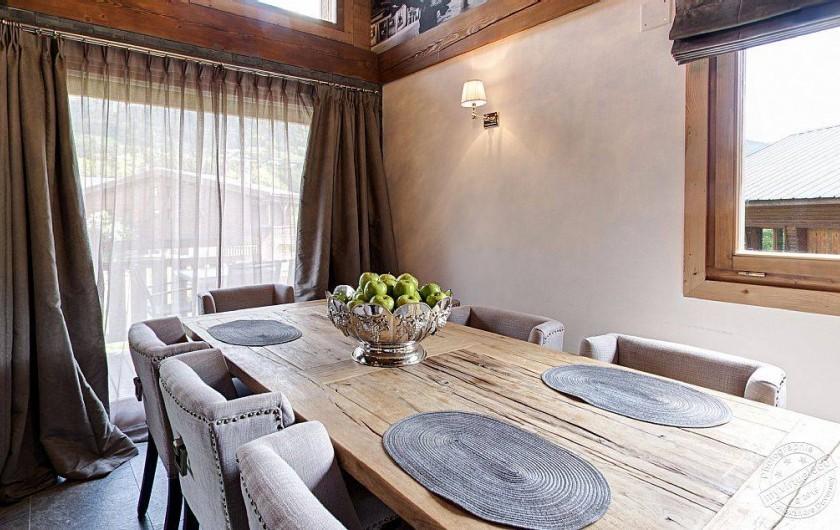 Location de vacances - Chalet à Megève - Diner room for 8 pers.