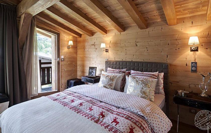 Location de vacances - Chalet à Megève - Master bedroom