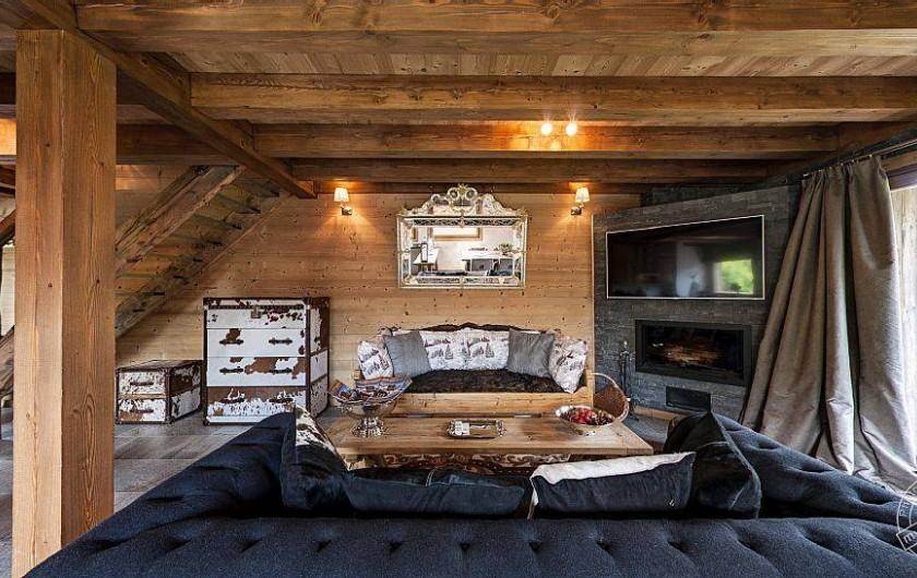 Location de vacances - Chalet à Megève - living room