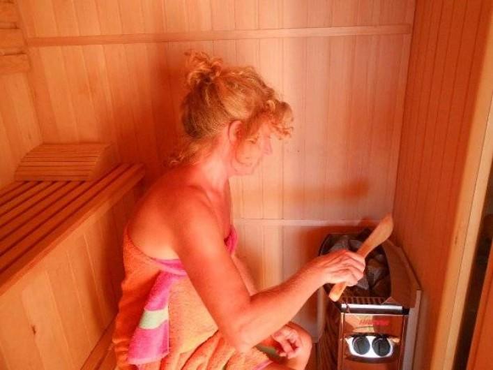 Location de vacances - Chambre d'hôtes à Tournon-d'Agenais - Le sauna à chaleur humide