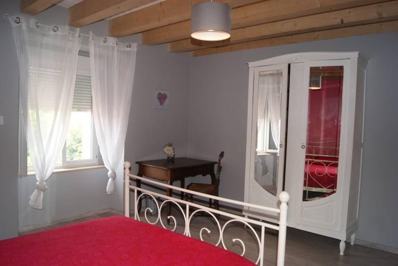 Location de vacances - Appartement à Barretaine - Chambre double rose