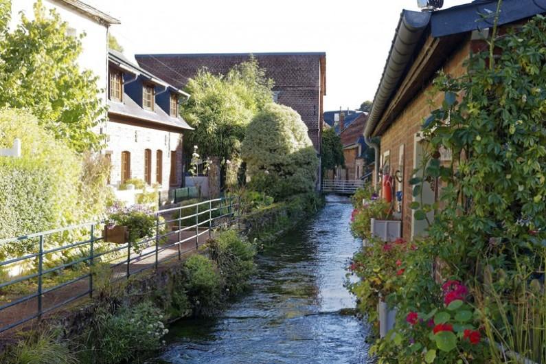 Location de vacances - Appartement à Saint-Valery-en-Caux - La veule qui traverse la ville pour se jeter dans la Manche prés de la plage.
