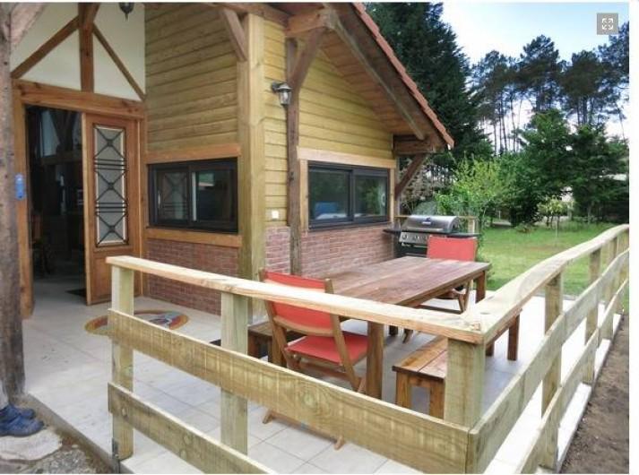 Location de vacances - Gîte à Magescq - accès par la terrasse