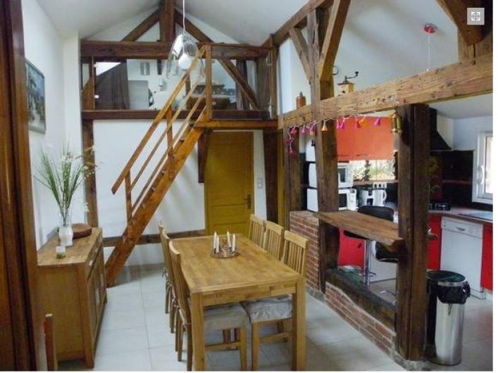 Location de vacances - Gîte à Magescq - la salle à manger / cuisine