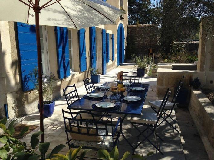 Location de vacances - Mas à Saint-Rémy-de-Provence - Terrasse