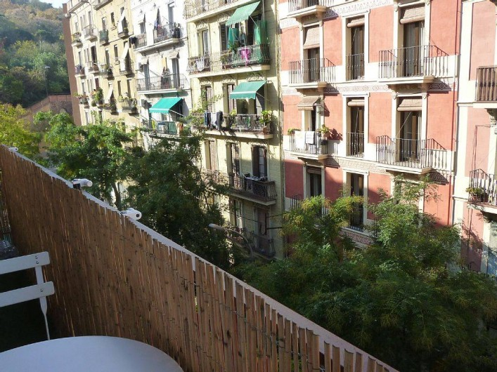 Location de vacances - Appartement à Barcelone - Le balcon de 9m2