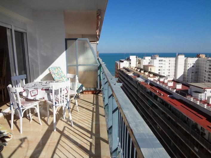 Location de vacances - Appartement à Cullera - 13 eme etage , terrasse  appartement de 2 chambres pour 2 a 7 personnes