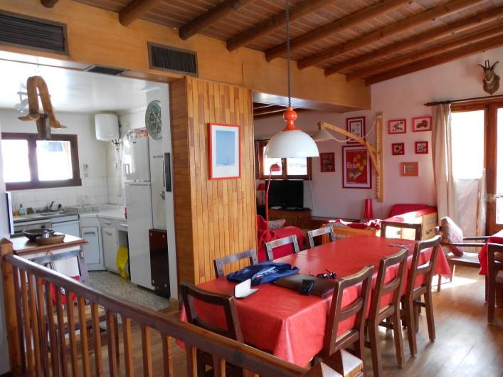 Location de vacances - Chalet à Vars - cuisine/salle à manger/salon