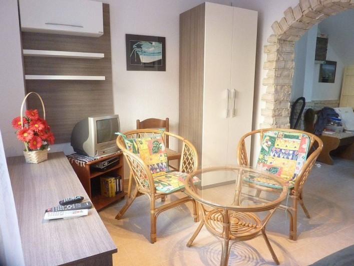 Location de vacances - Appartement à Vodice - Salon du rez de chaussée