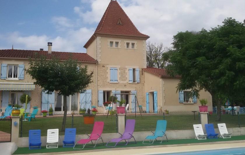 Location de vacances - Gîte à Castelnau-sur-Gupie - vue depuis la piscine