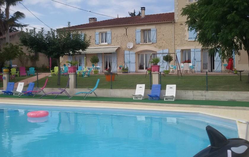 Location de vacances - Gîte à Castelnau-sur-Gupie - environ 11m / 7m sur 120 cm de profondeur