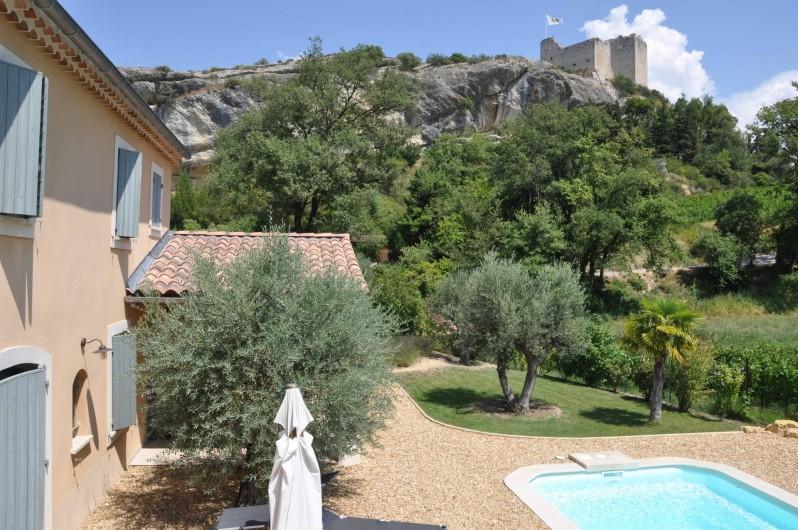 Location de vacances - Maison - Villa à Vaison-la-Romaine - Vue sur le château