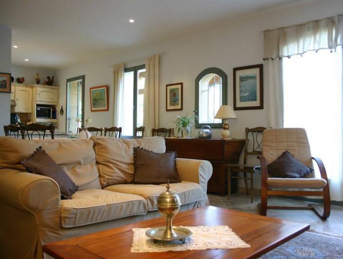 Location de vacances - Maison - Villa à Vaison-la-Romaine - Côté salon