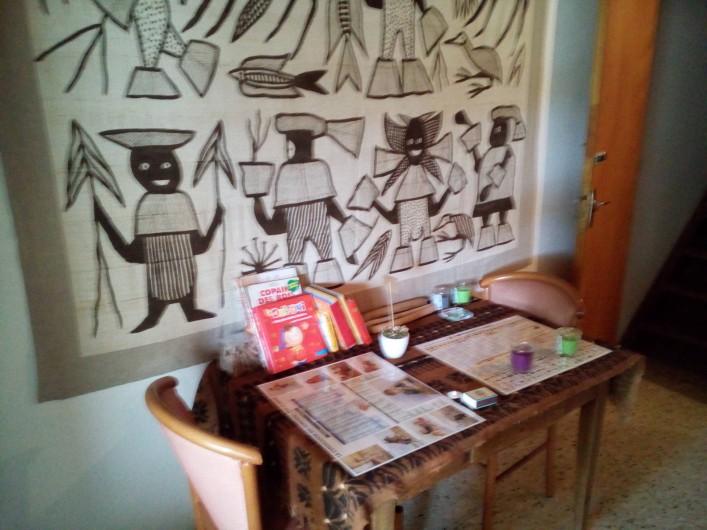 Location de vacances - Chalet à Seyne - Studio : table de travail