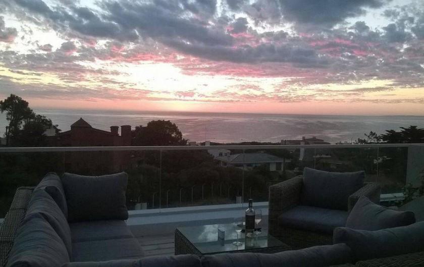 Location de vacances - Appartement à Maldonado - Coucher de soleil sur la plage de Solanas