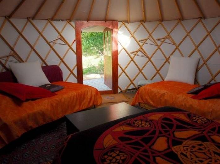 Location de vacances - Yourte à La Roche-sur-le-Buis - yourte Bambou