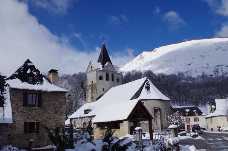 Location de vacances - Chambre d'hôtes à Arrens-Marsous - Le village l'hiver