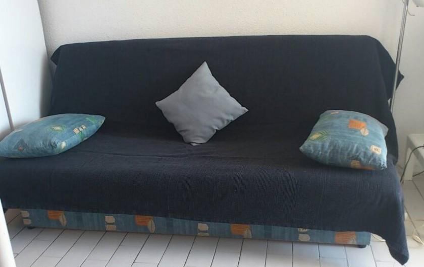 Location de vacances - Appartement à Port Leucate - Canapé