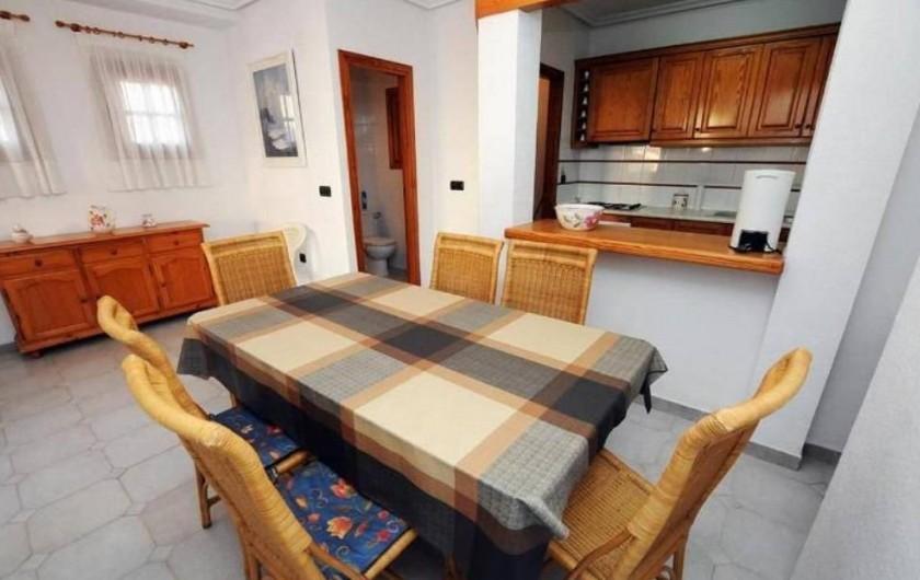 Location de vacances - Appartement à Orihuela - salle à manger et cuisine