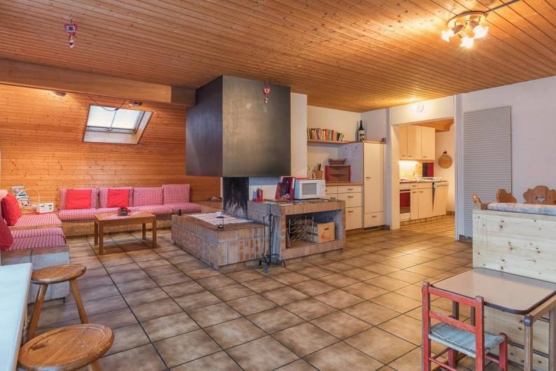 Location de vacances - Appartement à Fieschertal - La salle de séjour Appartement Seppi