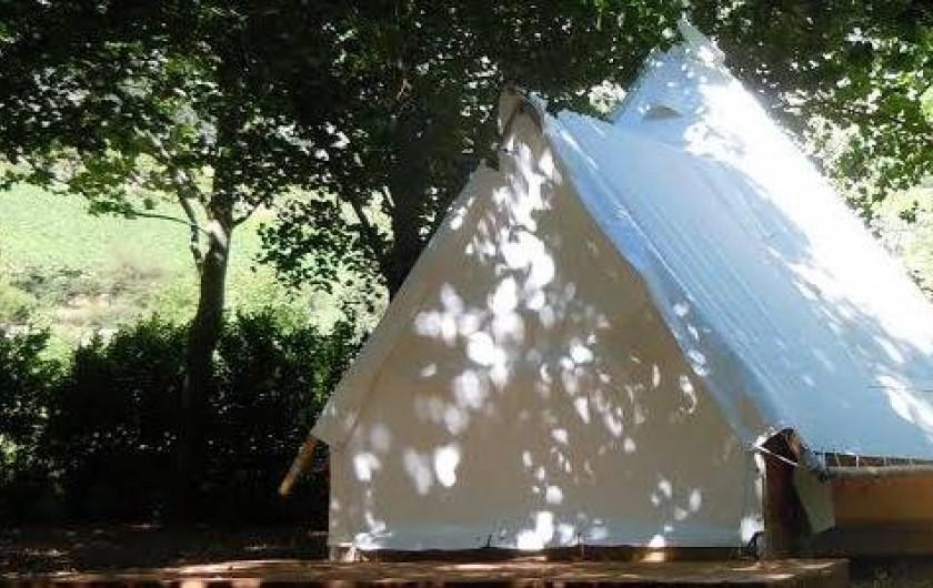 Location de vacances - Camping à Castelbouc - Nos tentes tipis à louer