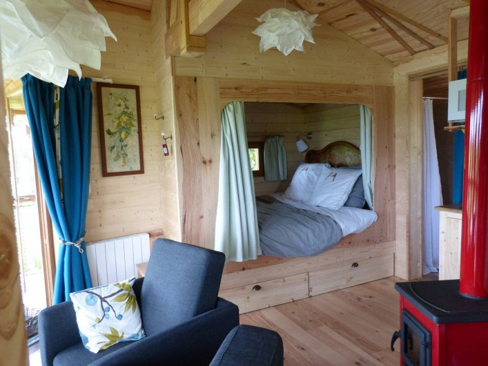 Location de vacances - Cabane dans les arbres à Sainte-Pazanne - L'intérieur du nid