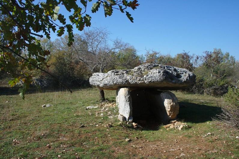 Location de vacances - Gîte à Lentillac-du-Causse - le dolmen de Lentillac accès depuis le gîte