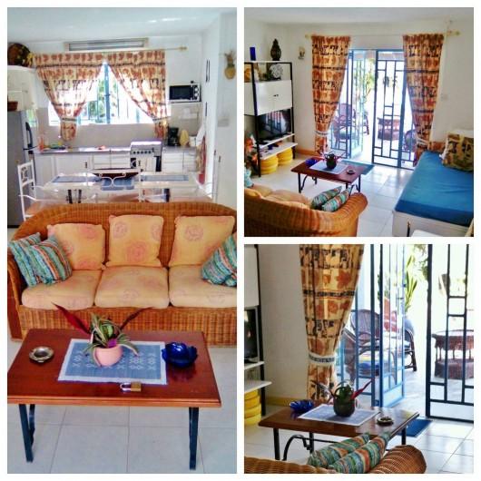 Location de vacances - Villa à Pereybere - Salon + Cuisine Bungalow rdc