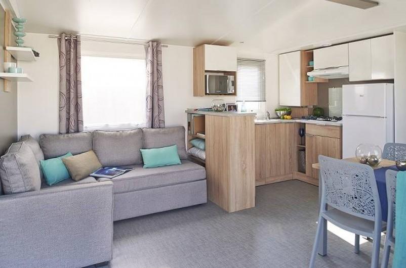 Location de vacances - Camping à Wacquinghen - Mobil home Lodge 4 personnes 2 chambres