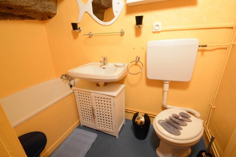 Location de vacances - Gîte à Quettehou - salle de bain.     salle de bain.