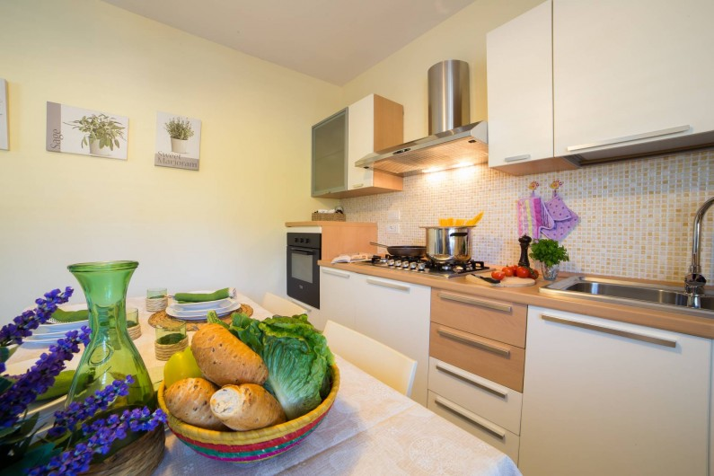 Location de vacances - Appartement à Pescoluse - Dans la large cuisine tu peux préparer les recettes typiques du Salento!