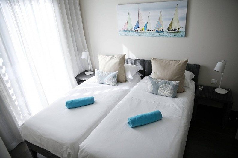 Location de vacances - Appartement à Rivière Noire - Chambre 3 avec 2 lits simple.