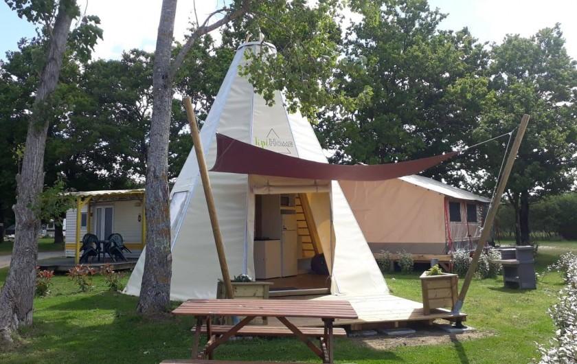 Location de vacances - Camping à Sallertaine - Tipi