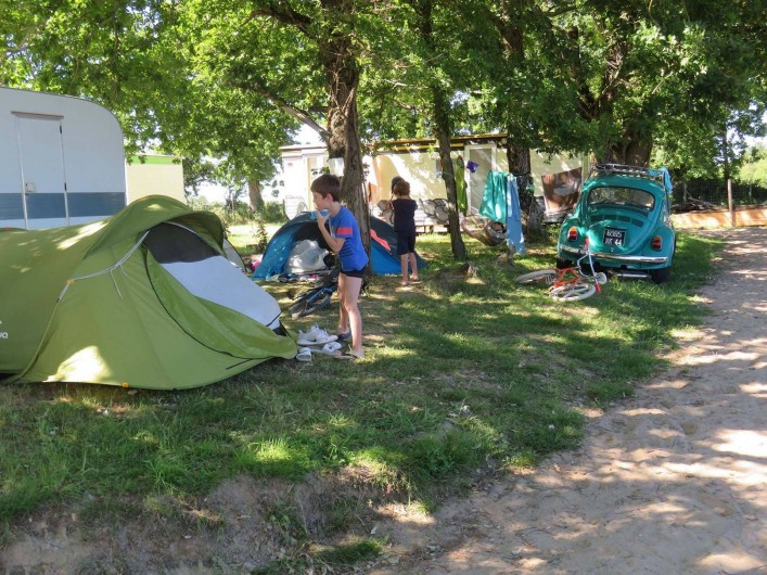Location de vacances - Camping à Sallertaine - Emplacement tente