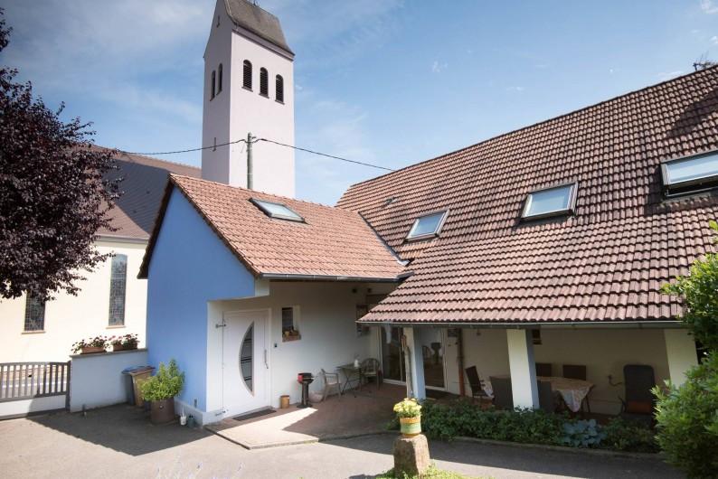Location de vacances - Appartement à Oberrœdern - La cours par laquelle vous entrez au gîte