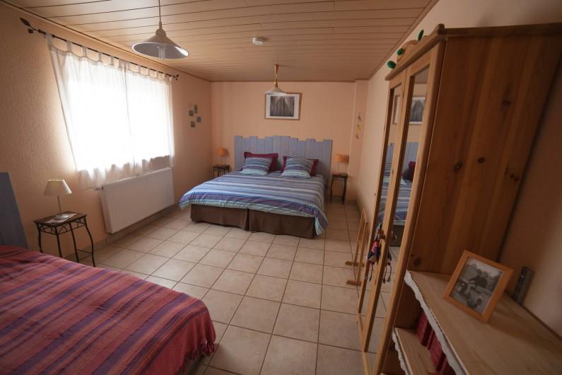 Location de vacances - Appartement à Oberrœdern - La chambre 1 pour 3 personnes en single ou king size