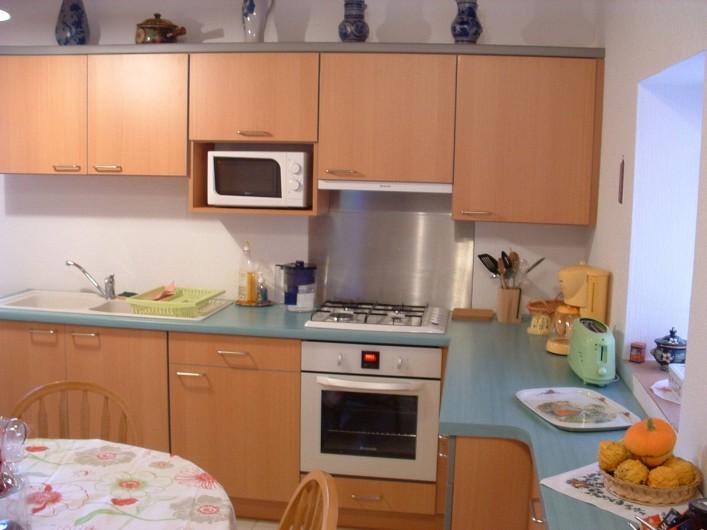 Location de vacances - Appartement à Oberrœdern - Lave vaisselle, four électrique, micro onde, congélateur, lave linge.