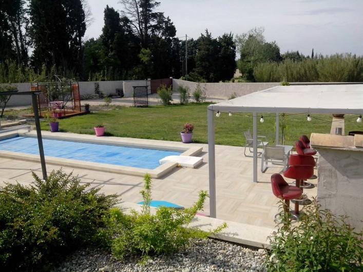 Location de vacances - Gîte à L'Isle-sur-la-Sorgue - espace piscine