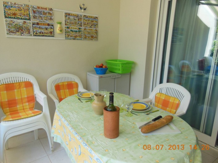 Location de vacances - Appartement à Dénia - la terrasse ou il fait bon manger l'été